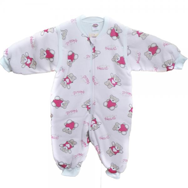 Tender παιδικός υπνόσακος με αποσπώμενα μανίκια ροζ